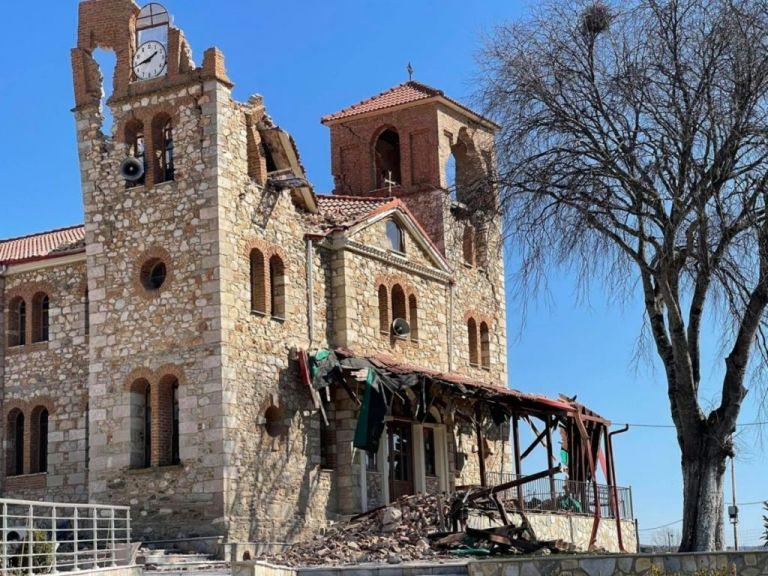 Ζημιές στον ιερό ναό Αγίου Δημητρίου στο Μεσοχώρι Ελασσόνας | tanea.gr