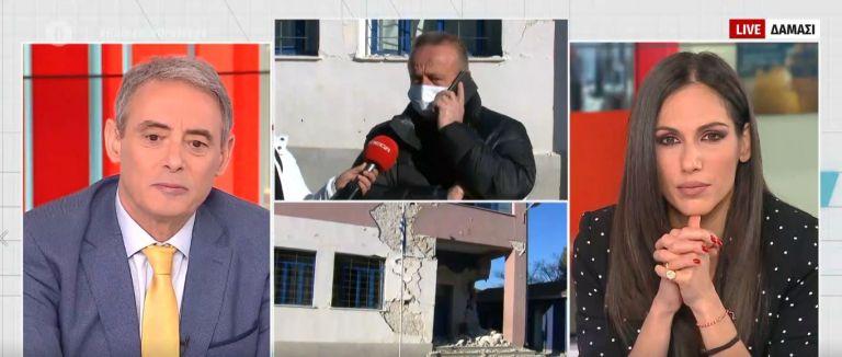Ο διευθυντής του σχολείου στο τραυματισμένο από τον σεισμό Δαμάσι Ελασσόνας στο MEGA | tanea.gr