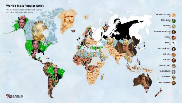 Οι κατά Google πιο δημοφιλείς ανά τον κόσμο ζωγράφοι για το 2020 | tanea.gr