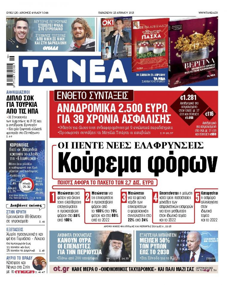 ΝΕΑ 23.04.2021 | tanea.gr