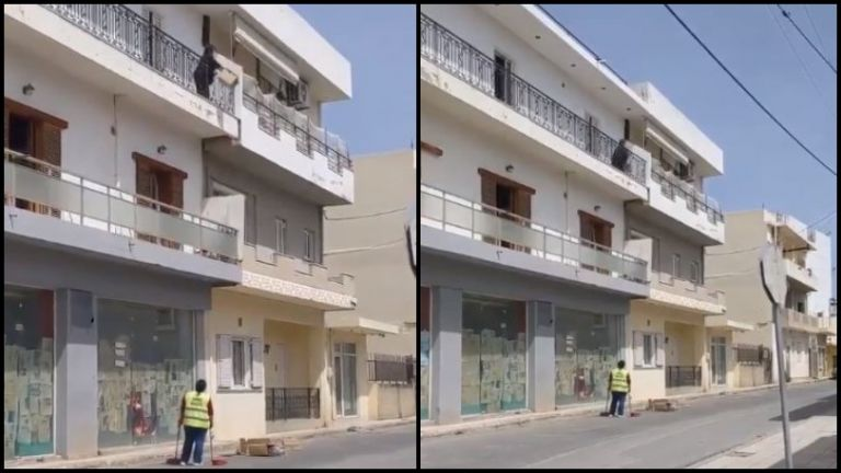 Γυναίκα πετάει σκουπίδια από το μπαλκόνι και λέει στην δημοτική καθαρίστρια «δουλειά σου είναι»   tanea.gr