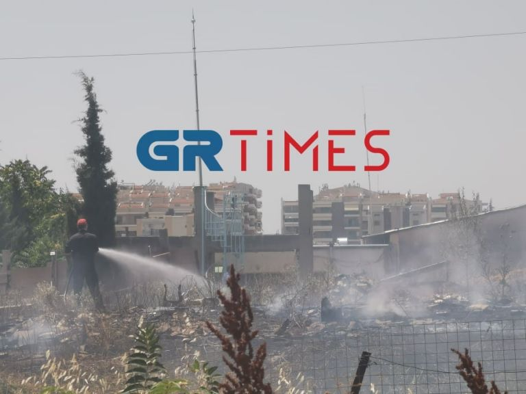 Θεσσαλονίκη: Πυρκαγιά κοντά στο αμαξοστάσιο του ΟΑΣΘ   tanea.gr