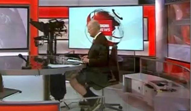 BBC: Κάμερα συνέλαβε παρουσιαστή να λέει τις ειδήσεις φορώντας... σορτσάκι | tanea.gr