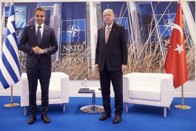 Ξεκίνησε η συνάντηση Μητσοτάκη – Ερντογάν   tanea.gr