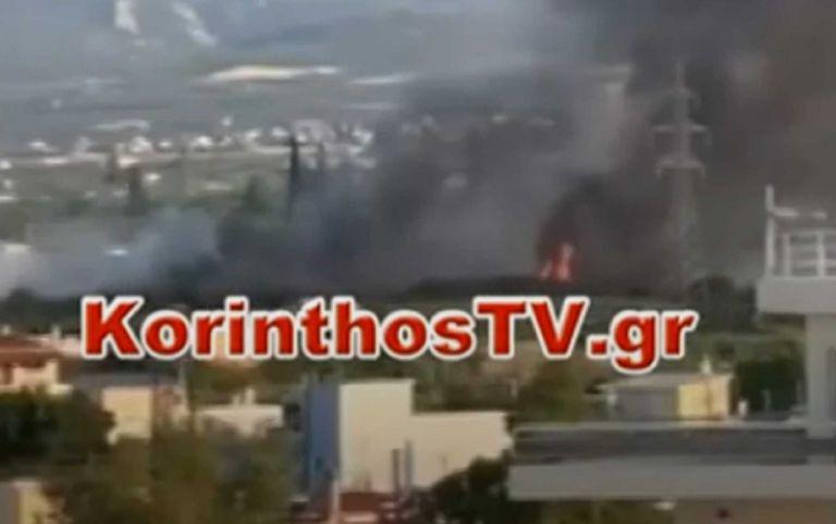 Φωτιά στο Κιάτο κοντά σε σπίτια   tanea.gr