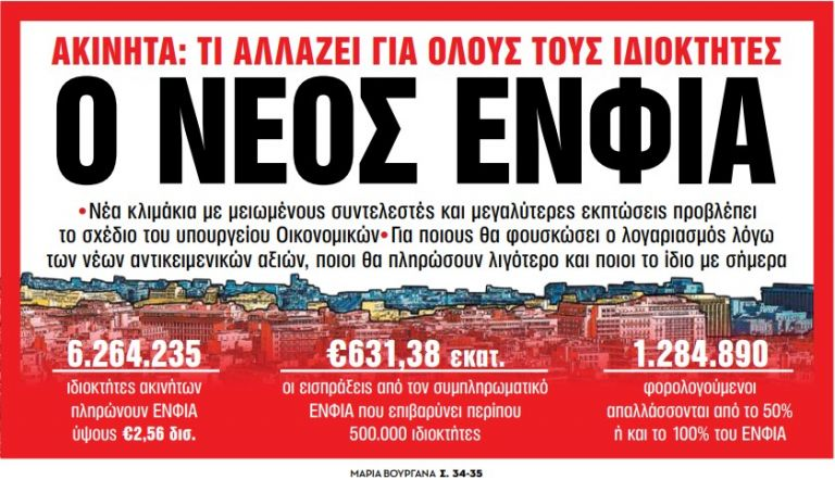Στα «Νέα Σαββατοκύριακο»: Ο νέος ΕΝΦΙΑ | tanea.gr