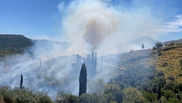 Φωτιά στην Κεφαλονιά: Εκκενώνεται οικισμός - Ενισχύθηκαν οι δυνάμεις της Πυροσβεστικής   tanea.gr