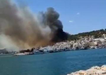 Μεγάλη φωτιά στη Σαλαμίνα   tanea.gr