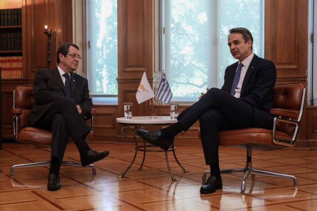 Μητσοτάκης προς Αναστασιάδη: «Η Ελλάδα πάντα θα βρίσκεται στο πλευρό της Κύπρου» | tanea.gr