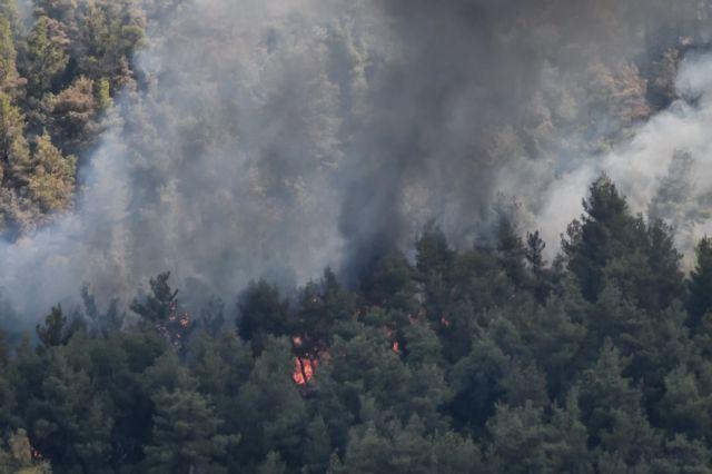 Πύρινος τρόμος ξανά στην Αττική - Στα Βίλια οι φλόγες   tanea.gr
