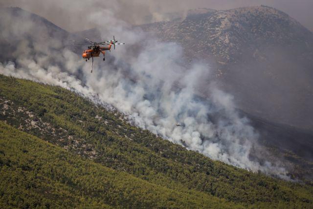 Βίλια – Μάχη με τις αναζωπυρώσεις – Πόσα εναέρια μέσα επιχειρούν   tanea.gr