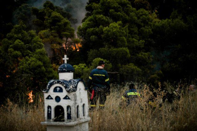 Βίλια – Στρόβιλος φωτιάς εκτοξεύει κορμό δέντρου προς τους πυροσβέστες   tanea.gr