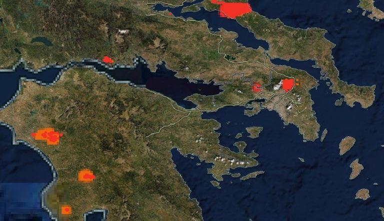 Η Ελλάδα φλέγεται – Απίστευτη απεικόνιση της NASA με τις πυρκαγιές   tanea.gr