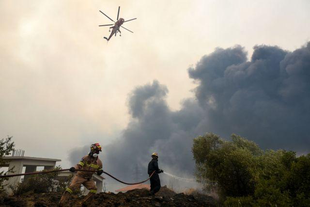 Φωτιά – Μεγάλη αναζωπύρωση στη Γορτυνία μετά την αύξηση ανέμων   tanea.gr