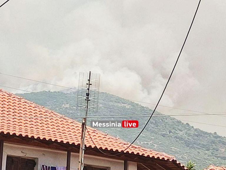 Μεσσηνία – Η φωτιά πλησιάζει προς το χωριό Καρνάσι   tanea.gr