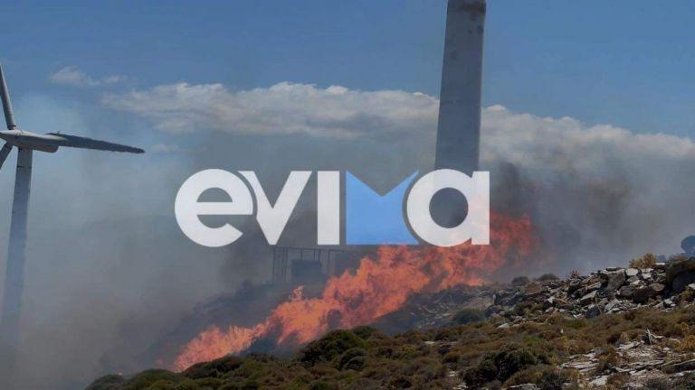 Εύβοια – Φωτιά στα Μεσοχώρια – Επιχειρούν έξι εναέρια, μεγάλο πρόβλημα ο αέρας   tanea.gr