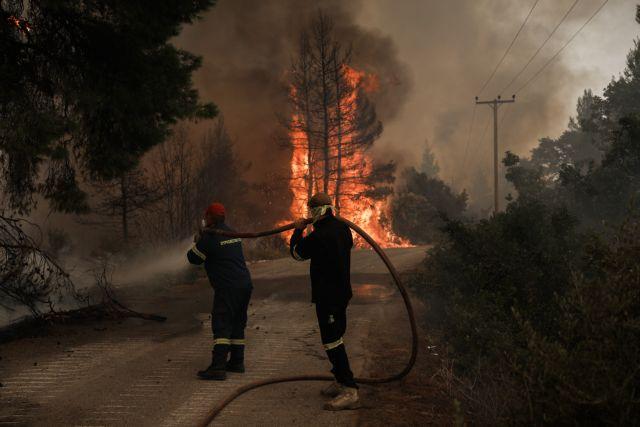Ξέσπασε φωτιά και σε δασική έκταση στην Πλατάνα του δήμου Κύμης-Αλιβερίου | tanea.gr