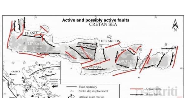 Σεισμός – Αυτά είναι τα πιο επικίνδυνα ρήγματα της Κρήτης | tanea.gr