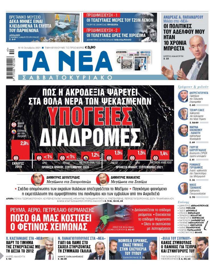 ΝΕΑ 09.10.2021 | tanea.gr